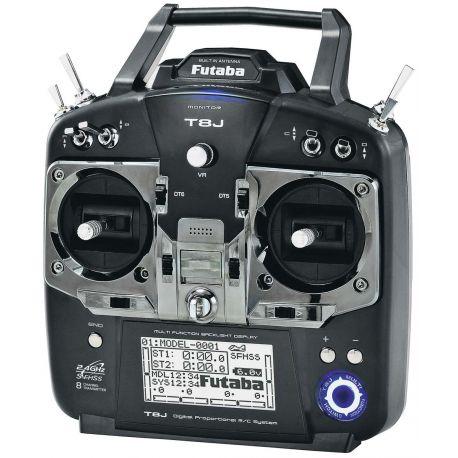 Radio Futaba 8J avec accu lipo, récepteur 8 voies R2008SB mode 2 avec chargeur