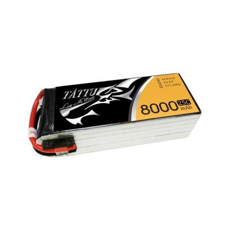 Tattu 8000mAh 22.2V 25C 6S1P Batterie Lipo