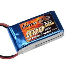 LiPo 2S Batterie LiPo 2S 800 mAh 20C - Dualsky