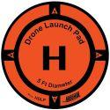 Drone Launch Pad diam 150cm (5ft) - HOODMAN