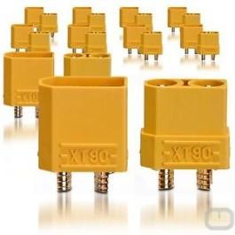 XT90 Connecteurs Male/Femelle (5 paires) Nylon