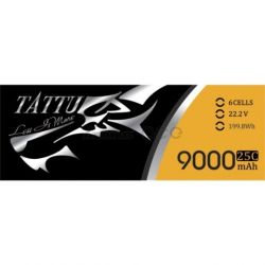Tattu 9000mAh 22.2V 25C 6S1P Batterie Lipo